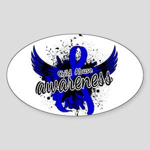 Child Abuse Awareness 16 Sticker (Oval)