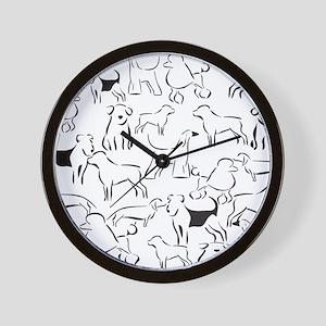 Dog Crazy! Black n White. Wall Clock