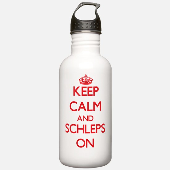 Keep Calm and Schleps Water Bottle