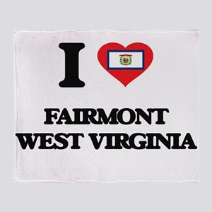 I love Fairmont West Virginia Throw Blanket