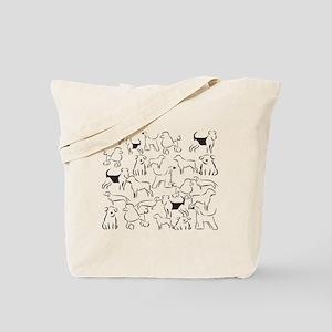 Dog Crazy! Black N White. Tote Bag