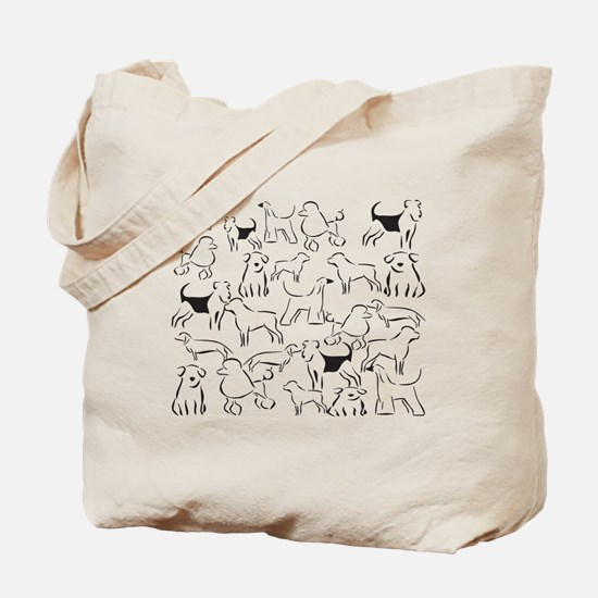 Dog Crazy! Black N White. Tote Bag