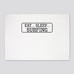 Eat Sleep Surfing 5'x7'Area Rug