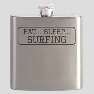 Eat Sleep Surfing Flask
