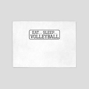 Eat Sleep Volleyball 5'x7'Area Rug