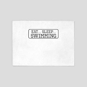 Eat Sleep Swimming 5'x7'Area Rug