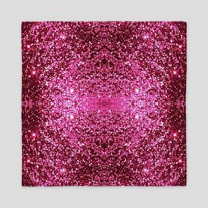 pink glitter Queen Duvet