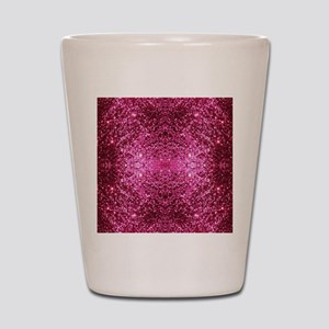 pink glitter Shot Glass