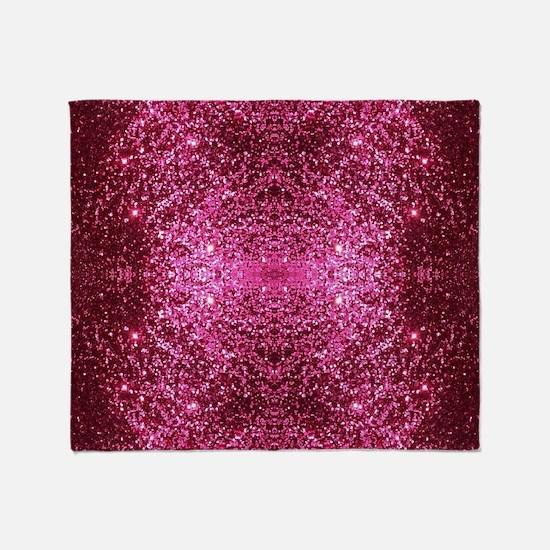 pink glitter Throw Blanket