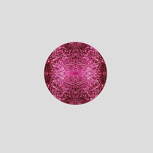pink glitter Mini Button