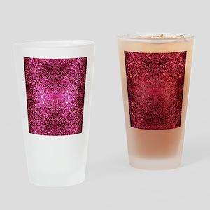 pink glitter Drinking Glass