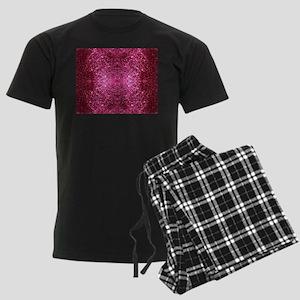 pink glitter Men's Dark Pajamas