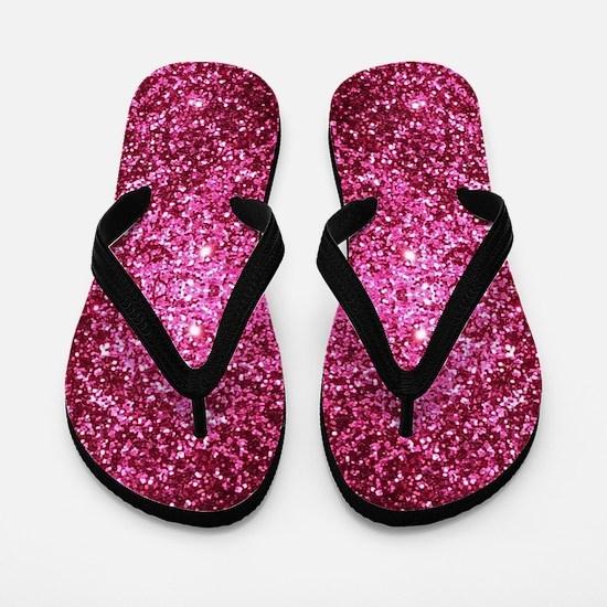 pink glitter Flip Flops
