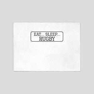 Eat Sleep Rugby 5'x7'Area Rug
