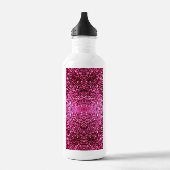 pink glitter Water Bottle