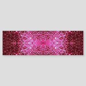 pink glitter Bumper Sticker
