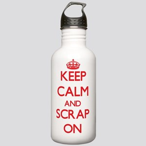Keep Calm and Scrap ON Stainless Water Bottle 1.0L