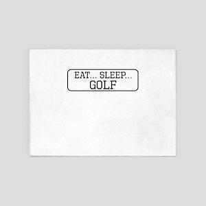 Eat Sleep Golf 5'x7'Area Rug