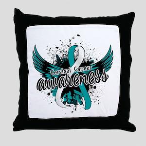 Cervical Cancer Awareness 16 Throw Pillow