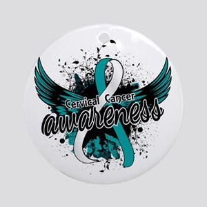 Cervical Cancer Awareness 16 Ornament (Round)