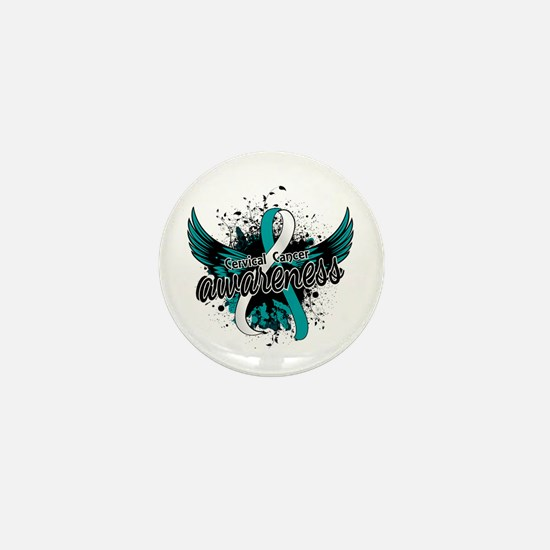 Cervical Cancer Awareness 16 Mini Button (10 pack)