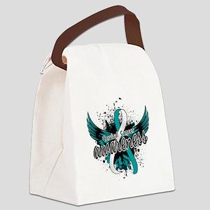 Cervical Cancer Awareness 16 Canvas Lunch Bag