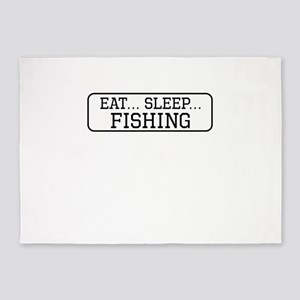 Eat Sleep Fishing 5'x7'Area Rug