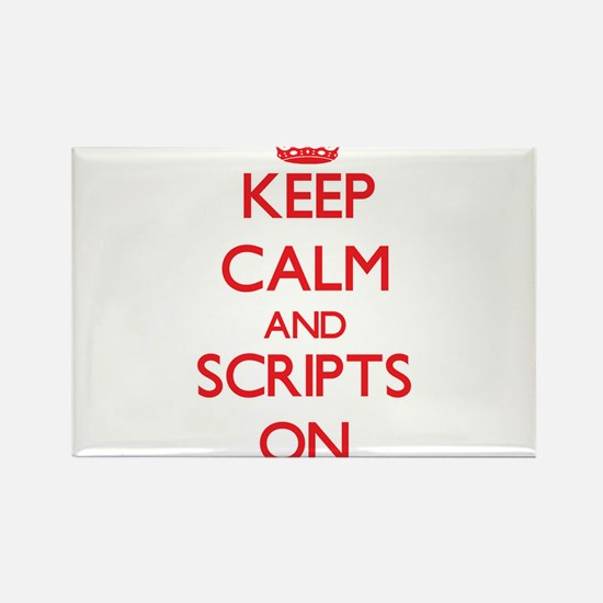 Keep Calm and Scripts ON Magnets