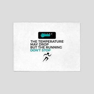 All Weather Run Can't Stop Keep Run 5'x7'Area Rug