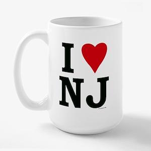I LOVE NJ Large Mug