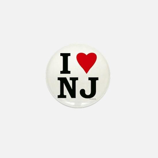 I LOVE NJ Mini Button