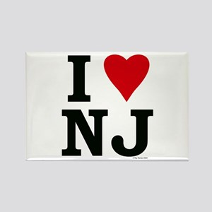 I LOVE NJ Rectangle Magnet