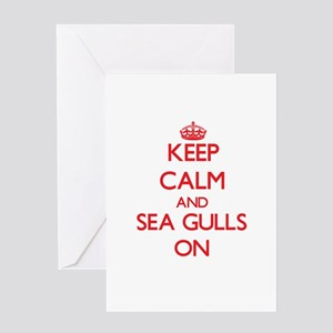 Keep Calm and Sea Gulls ON Greeting Cards