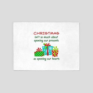 OPENING CHRISTMAS PRESENTS 5'x7'Area Rug