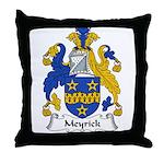 Meyrick Family Crest Throw Pillow