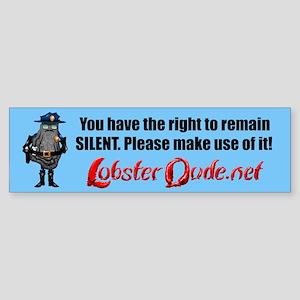 OyciferHalfshell-silent Bumper Sticker