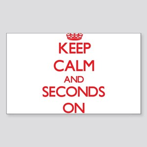 Keep Calm and Seconds ON Sticker