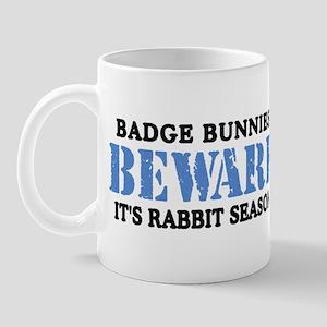 Badge Bunnies Beware Mug