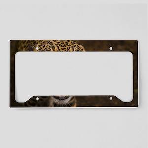 Growling Jaguar License Plate Holder