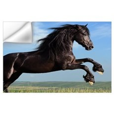 Black Horse Running Wall Decal