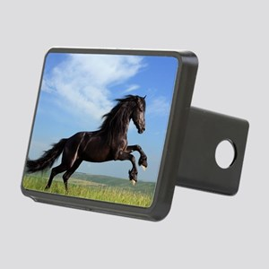 Black Horse Running Rectangular Hitch Cover