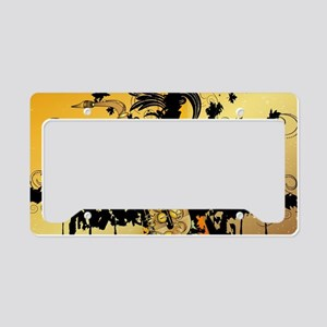 Music, saxophone License Plate Holder