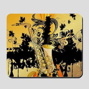 Music, saxophone Mousepad