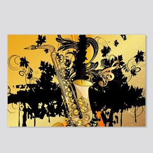 Music, saxophone Postcards (Package of 8)