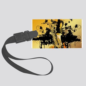 Music, saxophone Luggage Tag
