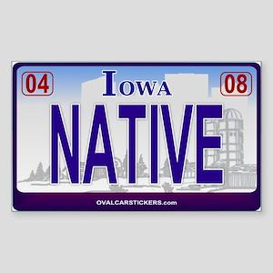 Iowa Plate - NATIVE Rectangle Sticker