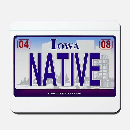 Iowa Plate - NATIVE Mousepad