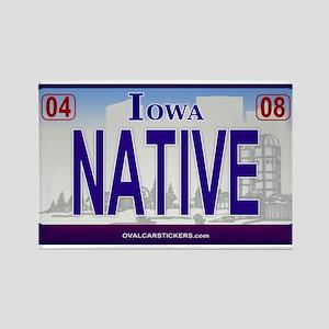 Iowa Plate - NATIVE Rectangle Magnet