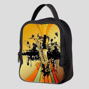 Music, saxophone Neoprene Lunch Bag