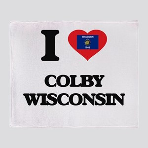 I love Colby Wisconsin Throw Blanket